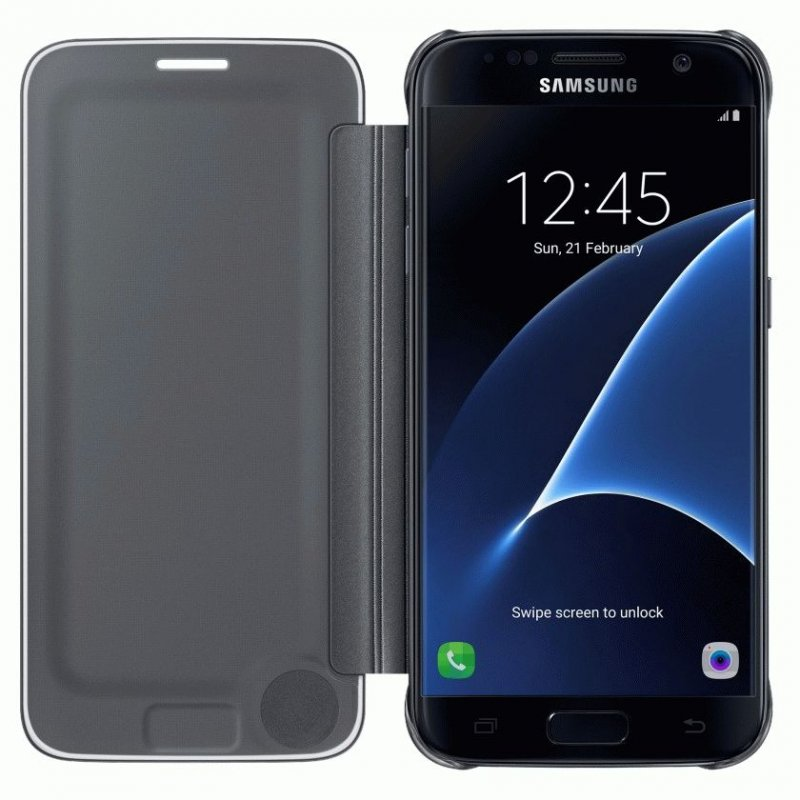 Чехол Clear View Cover для Samsung Galaxy S7 G930 Black (EF-ZG930CBEGRU)