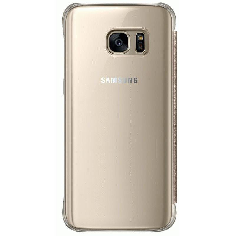 Чехол Clear View Cover для Samsung Galaxy S7 G930 Gold (EF-ZG930CFEGRU)