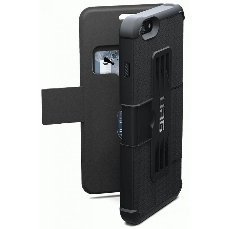 Накладка Urban Armor Gear (UAG) для iPhone 6 Plus | 6s Plus Scout Folio Black (IPH6/6SPLSF-BLK-VP)