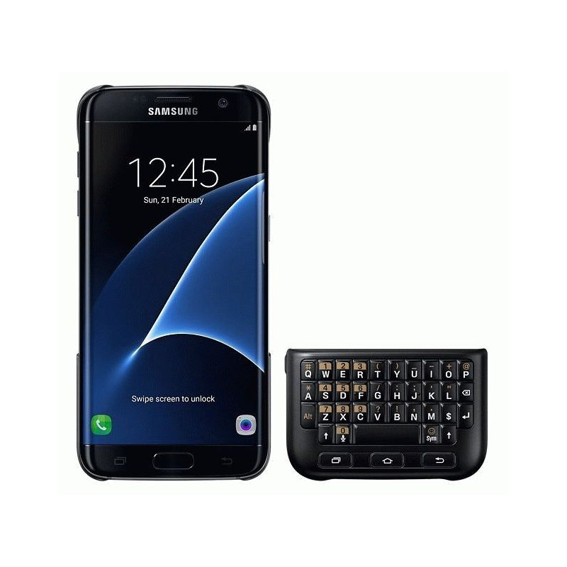 Чехол-клавиатура Keyboard Cover для Samsung Galaxy S7 Edge G935 Black (EJ-CG935UBEGRU)