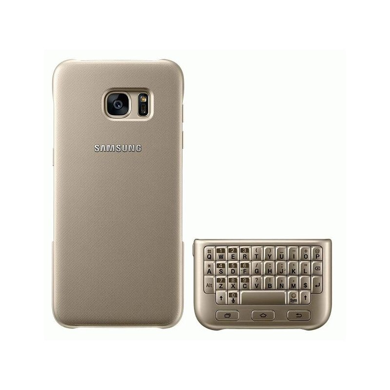 Чехол-клавиатура Keyboard Cover для Samsung Galaxy S7 Edge G935 Gold (EJ-CG935UFEGRU)