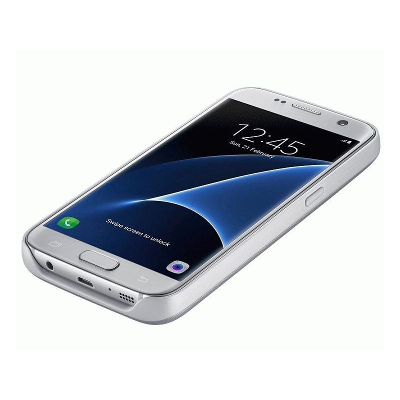 Чехол-аккумулятор Backpack для Samsung Galaxy S7 G930 Silver (EP-TG930BSRGRU)