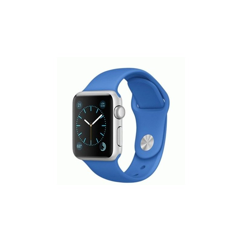 Apple Watch Sport 38mm Silver Aluminum Case with Royal Blue Sport Band (MMF22)