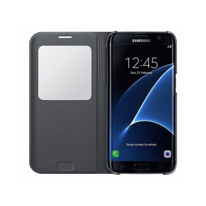 Чехол S View для Samsung Galaxy S7 Edge G935 Black (EF-CG935PBEGRU)