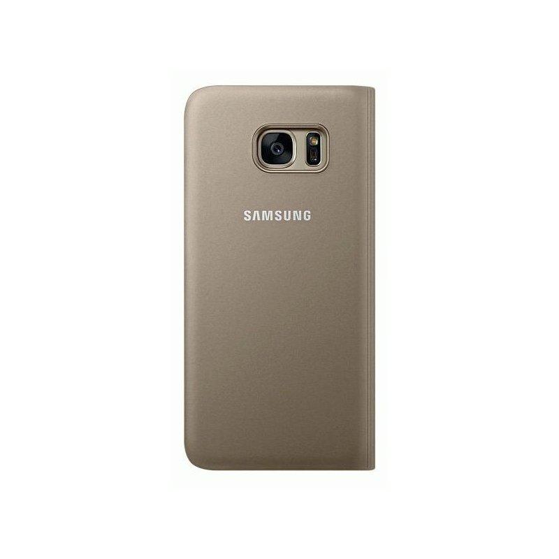Чехол S View для Samsung Galaxy S7 Edge G935 Gold (EF-CG935PFEGRU)