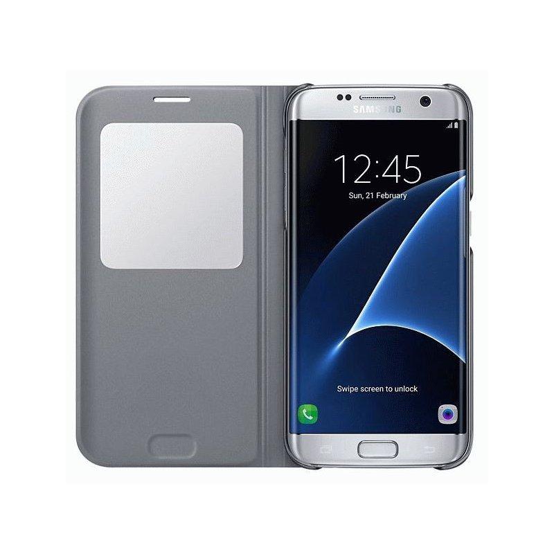 Чехол S View для Samsung Galaxy S7 Edge G935 Silver (EF-CG935PSEGRU)