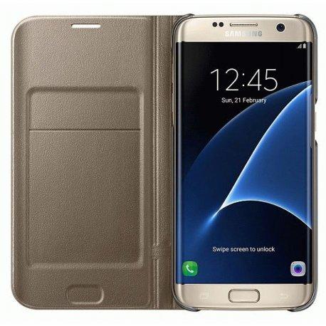 Чехол LED View Cover для Samsung Galaxy S7 Edge G935 Gold (EF-NG935PFEGRU)