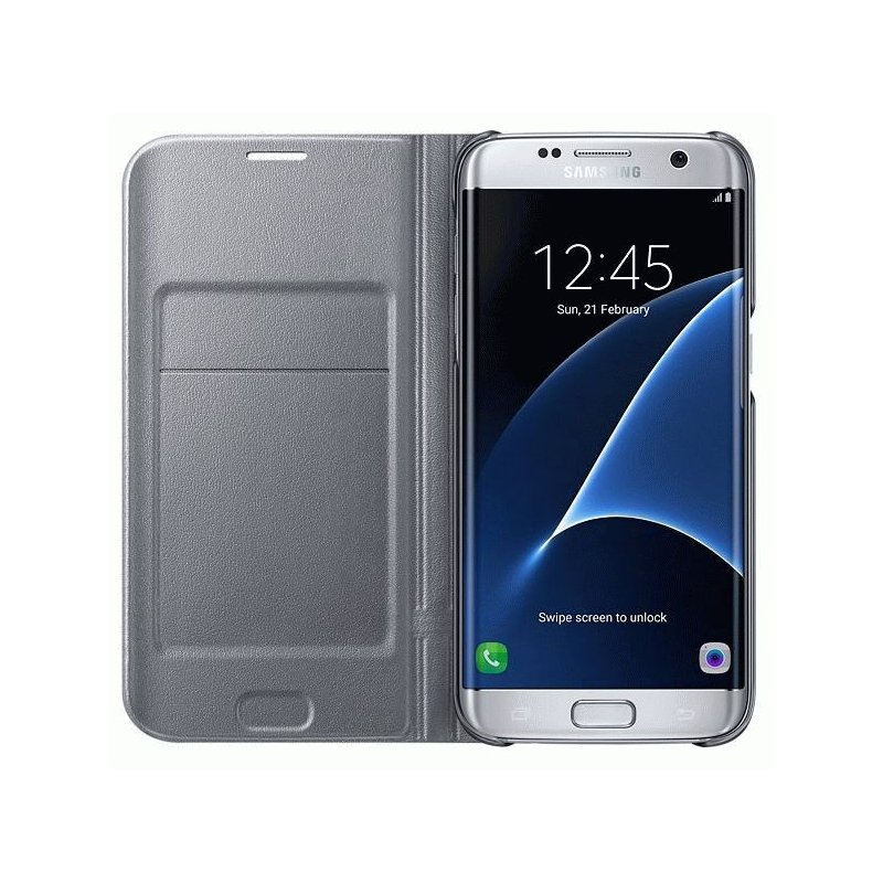 Чехол LED View Cover для Samsung Galaxy S7 Edge G935 Silver (EF-NG935PSEGRU)