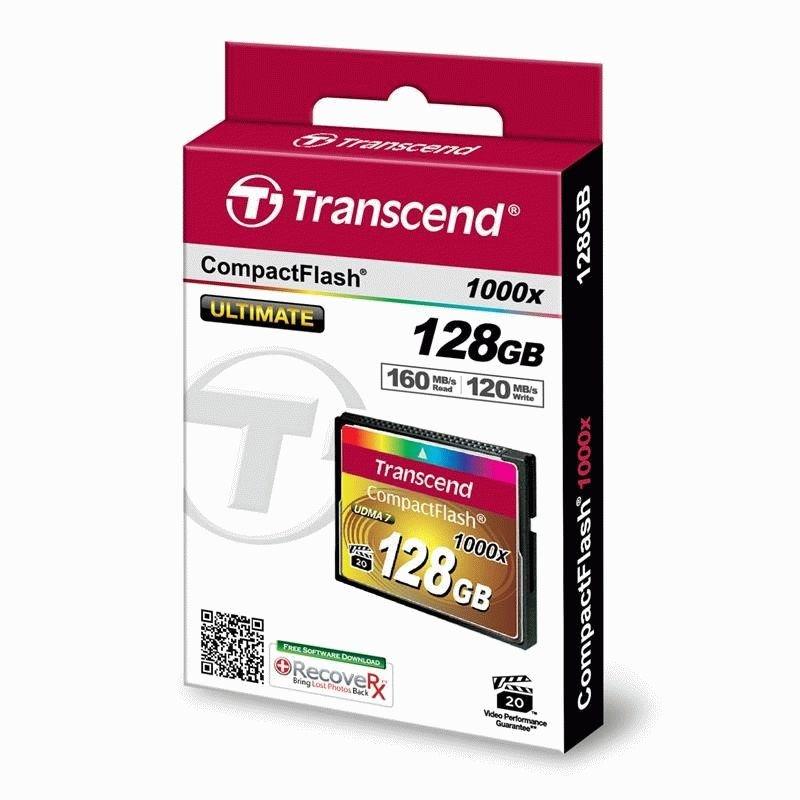 Карта памяти Transcend CompactFlash 128GB 1000x (TS128GCF1000)