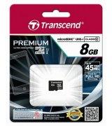 Карта памяти Transcend microSDHC 8GB Class 10 UHS-I Premium (TS8GUSDCU1)