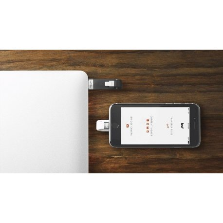 Накопитель Leef iBridge Lightning/USB 64Gb White