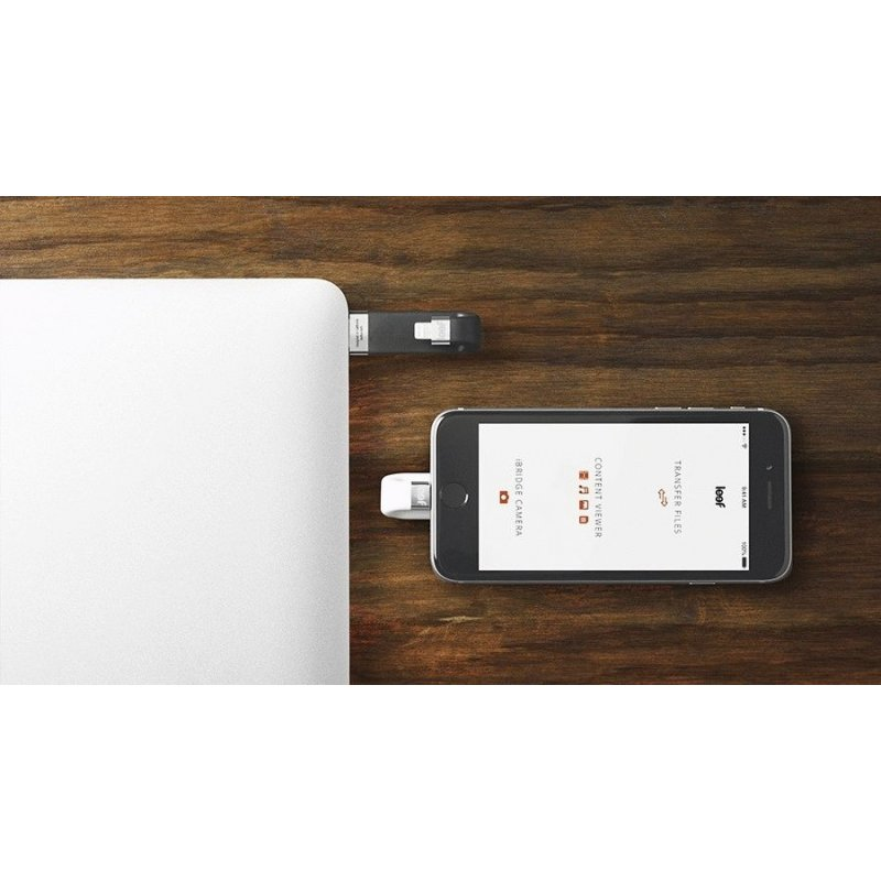Накопитель Leef iBridge Lightning/USB 64Gb White