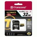 Карта памяти Transcend microSDHC 32GB Class 10 UHS-I U3 Ultimate + SD-adapter (TS32GUSDU3)