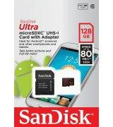 Карта памяти SanDisk Ultra microSDXC UHS-I 128GB + SD-adapter (SDSQUNC-128G-GN6MA)
