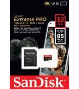 Карта памяти SanDisk Extreme PRO microSD UHS-I 32GB (SDSDQXP-032G-G46A)