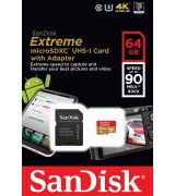 Карта памяти SanDisk microSDXC 64GB Extreme Class10 UHS-I (SDSQXNE-064G-GN6MA)