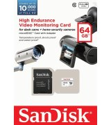 Карта памяти SanDisk microSDXC High Endurance 64GB Class10 + SD-adapter (SDSDQQ-064G-G46A)