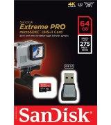 Карта памяти SanDisk Extreme PRO microSD UHS-II 64GB (SDSQXPJ-064G-GN6M3)
