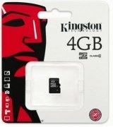 Карта памяти Kingston MicroSDHC 4GB Class 4 (SDC4/4GBSP)