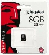 Карта памяти Kingston MicroSDHC 8GB Class 4 (SDC4/8GBSP)