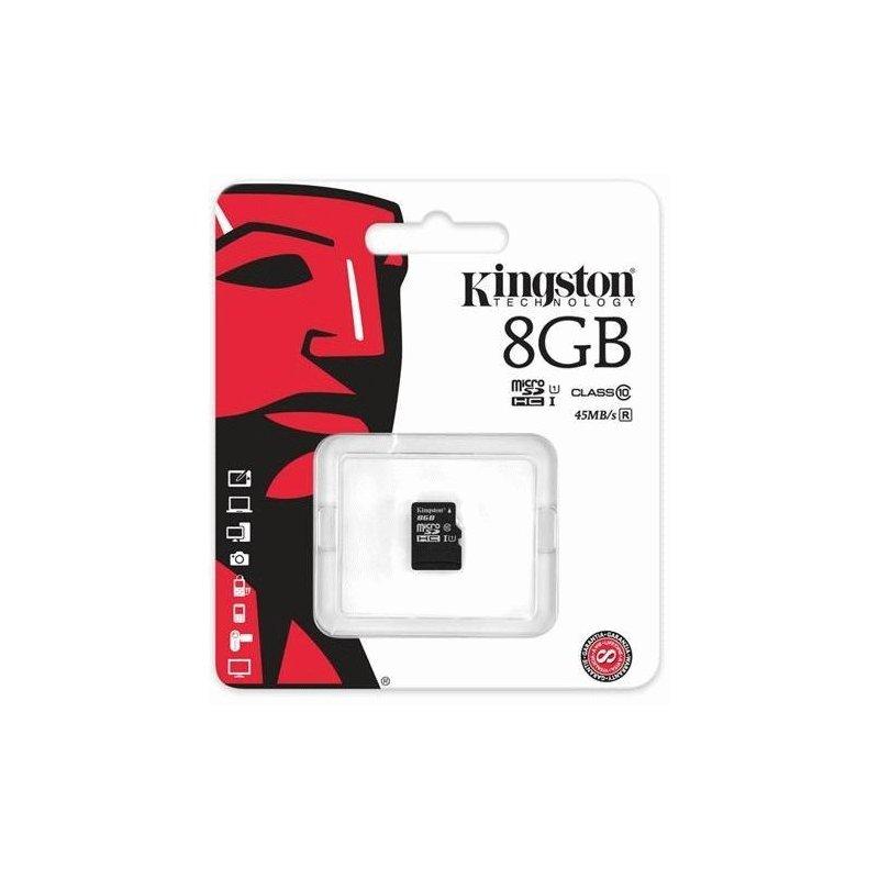 Карта памяти Kingston MicroSDHC/MicroSDXC 8GB Class 10 UHS-I (SDC10G2/8GBSP)