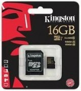 Карта памяти Kingston MicroSD 16GB Class 10 UHS-I + SD-adapter (SDCA10/16GB)