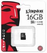 Карта памяти Kingston MicroSDHC/MicroSDXC 16GB Class 10 UHS-I (SDC10G2/16GBSP)