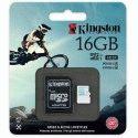 Карта памяти Kingston MicroSDHC 16GB Action Camera Class 10 UHS-I U3 + SD-adapter (SDCAC/16GB)