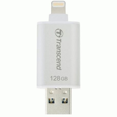Накопитель Transcend JetDrive Go 300 USB / Lightning 128GB Silver (TS128GJDG300S)