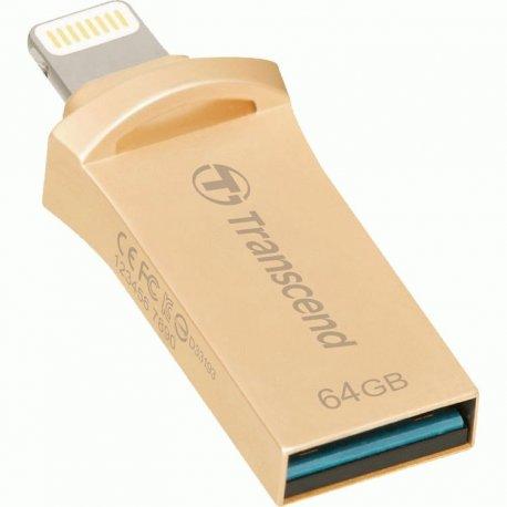 Накопитель Transcend JetDrive Go 500 USB / Lightning 64GB Gold (TS64GJDG500G)