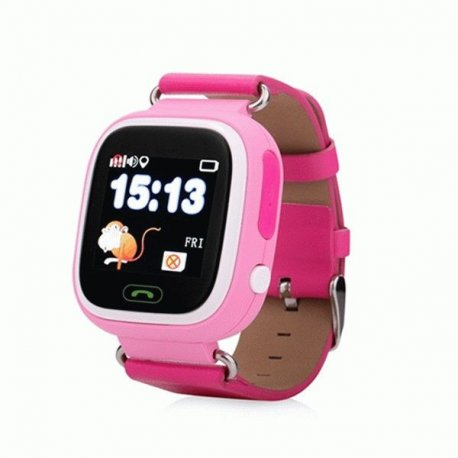 Детские телефон-часы с GPS iQwatch Touch (Pink)