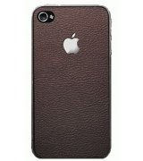 SGP Leather Brown Skin Guard Set Series для Apple iPhone 4/4s