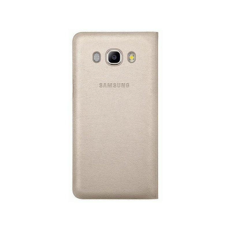 Чехол Flip Wallet для Samsung Galaxy J5 (2016) J510 Gold (EF-WJ510PFEGRU)