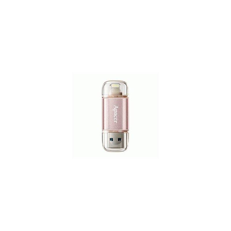 Накопитель Apacer Dual  AH190 USB 3.1 / Lightning 32GB Rose Gold (AP32GAH190H-1)