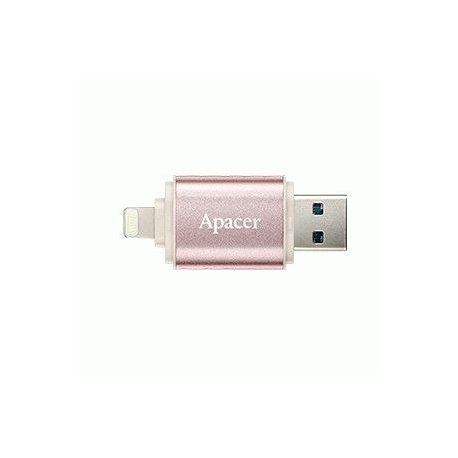 Накопитель Apacer Dual AH190 USB 3.1 / Lightning 32GB Rose Gold (AP32GAH190H-1)