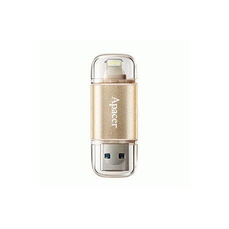 Накопитель Apacer Dual AH190 USB 3.1 / Lightning 16GB Gold (AP16GAH190C-1)