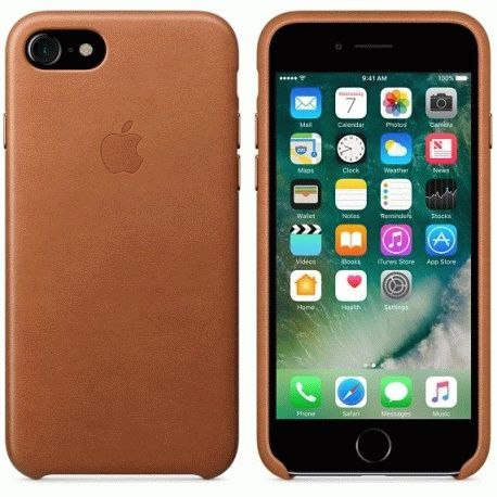 Чехол Apple iPhone 7 Leather Case Saddle Brown (MMY22ZM/A)