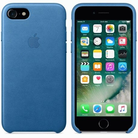 Чехол Apple iPhone 7 Leather Case Sea Blue (MMY42ZM/A)