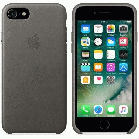 Чехол Apple iPhone 7 Leather Case Storm Gray (MMY12ZM/A)