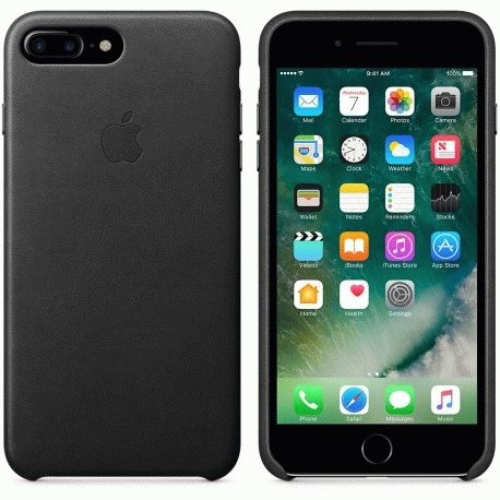 Чехол Apple iPhone 7 Plus Leather Case Black (MMYJ2ZM/A)