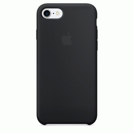 Чехол Apple iPhone 7 Silicone Case Black (MMW82ZM/A)