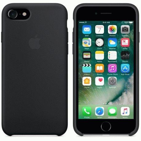 Чехол Apple iPhone 7 Silicone Case Black (MMW82ZM/A)