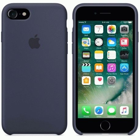 Чехол Apple iPhone 7 Silicone Case Midnight Blue (MMWK2ZM/A)