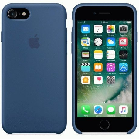 Чехол Apple iPhone 7 Silicone Case Ocean Blue (MMWW2ZM/A)