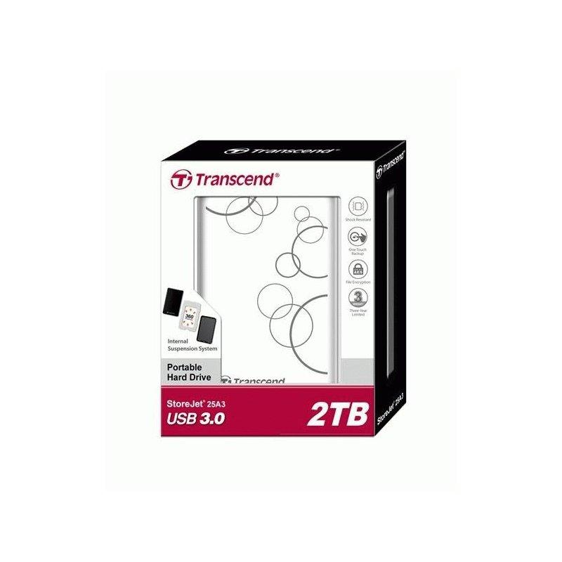 Transcend StoreJet 2TB TS2TSJ25A3W 2.5 USB 3.0 White