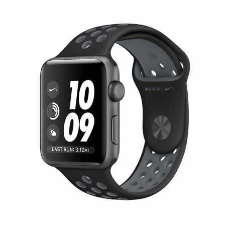 Apple Watch Series 2 42mm Space Gray Aluminum Case with Black/Cool Gray Nike Sport Band (MNYY2)