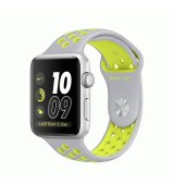 Apple Watch Series 2 42mm Silver Aluminum Case with Flat Silver/Volt Nike Sport Band (MNYQ2)