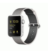 Apple Watch Series 2 42mm Silver Aluminum Case with Pearl Woven Nylon (MNPK2)