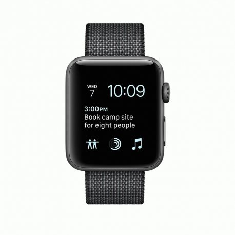 Apple Watch Series 2 42mm Space Gray Aluminum Case with Black Woven Nylon (MP072)
