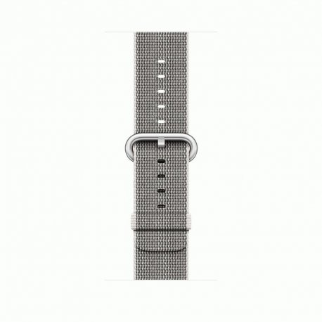 Apple Watch Series 2 38mm Silver Aluminum Case with Pearl Woven Nylon (MNNX2)